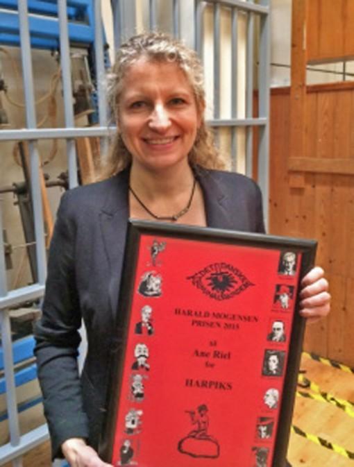 Ane Riel modtager Harald Mogensen Award